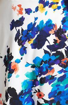 Betsey Johnson Floral Print Fit  Flare Dress | Nordstrom