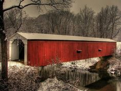 Indiana is full of Covered Bridges. We even have a Covered Bridge Festival that runs for 2 weeks in Parke County.