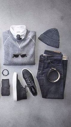 I like the sweater and jeans not the shoes or hat.
