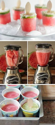 The watermelon popsicles look perfect!
