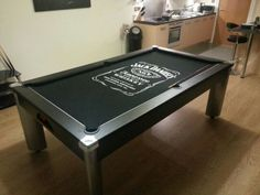 Awesome Jack Daniel's pool table. Man cave idea!!