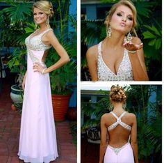 Custom Made A Line Sweetheart Neck Pink Backless Prom Dresses, Cheap Prom Dresses 2016 Prom Dress Prom Dresses 2016, Beaded Prom Dress, Backless Prom Dresses, A Line Prom Dresses, Cheap Prom Dresses, Dance Dresses, Sexy Dresses, Evening Dresses, Formal Dresses