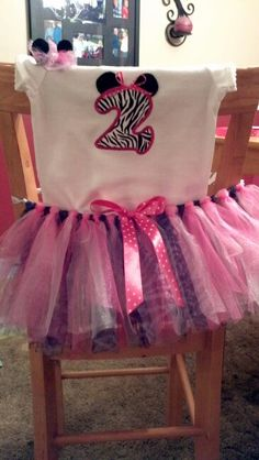 Minnie Mouse birthday outfit.
