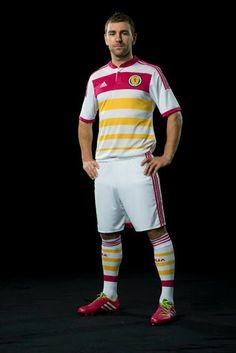 Scotland 2014 White   Pink   Yellow Rosebery Away Kit Not sure!!! Jury s 9c66c73868bed