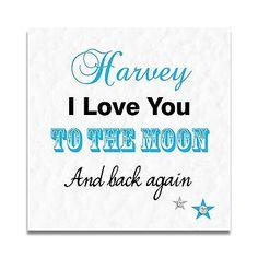 Handmade Personalised I Love You. Mens Husband Anniversary Birthday Card