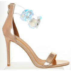 0f18a3d09 Rose Gold-Tone Floral Applique Heels - Mod Box Shoes - Women's Mod Box -  Edits