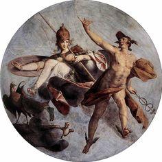 Mythologie grecque : Hermès et Athéna par Spranger