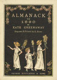 ¤ Kate Greenaway's Almanack for 1890 book cover