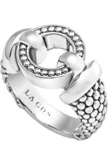 Free shipping and returns on LAGOS 'Derby' Buckle Ring at Nordstrom.com. Swoops of sterling silver sculpt an everyday ring with an elegant buckle motif flanked by signature Caviar beading.