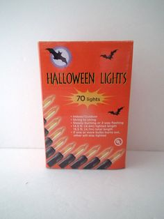 70 Halloween String Lights Indoor Outdoor 14.5 Stays Lit Orange