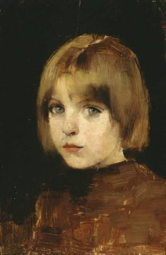 Helene Schjerfbeck,  (Finnish, 1862-1946) - Portrait of a Young Girl