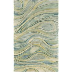 Shell Rummel Natural Affinity Hand-Tufted Green/Beige Area Rug