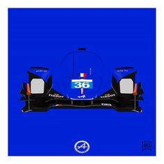 Here is the #LMP2 #winner of #24h du #lemans , the #alpine #signatech #a450 #36 #driven by Nicolas Lapierre, @followgustavo and @stefrike .  #racing #car #v8 #love #lemans24 #2016 #blue #vector #art #illustration #minimal #minimalist #tissot #elf #instagood
