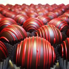 It's the final count down! 11 days until Valentine's day, and our red raspberry truffles are ready for you lovers!