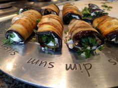 Aubergine Rolls - World Food Tour Grilled Eggplant, Frying Oil, Grand Prix, Rolls, Herbs, Recipes, Food, Meal, Essen