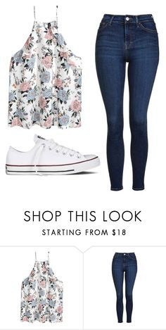 """Untitled #530"" by cuteskyiscute ❤ liked on Polyvore featuring Topshop and Converse"