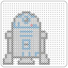 Star Wars : le robot R2D2 en perles à repasser Hama Theme Star Wars, Star Wars Party, Lego Star Wars, Fuse Beads, Perler Beads, Perle Hama Star Wars, Pixel Art, R2d2, Cadeau Parents