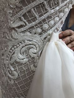 A look inside our Brisbane based fashion house  bringing a gown to life for our beautiful client Bridgette! #fashion #weddingdress #lace #bridal