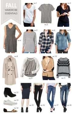 18 fall wardrobe essentials - versatile foundation pieces that you can mix and match for a ton of different outfits.