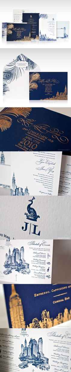 New York City Peacock Wedding Invitations http://www.behance.net/gallery/New-York-City-Peacock-Wedding-Invitations/7734733