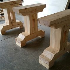 Legs for 9 ft bench for dining table