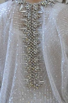 Dress back detail with crystal encrusted spine; embellished fashion details // Givenchy: