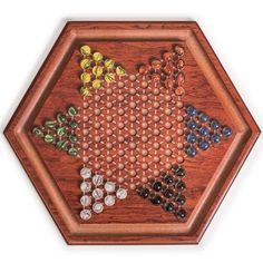 Wooden Chinese Checkers Board Game Set with Colorful Glass Marbles - Yellow Mountain Imports Family Games, Games For Kids, Activities For Kids, China, Backyard Games, Glass Marbles, Colored Glass, Board Games, Game Night