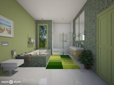 Green Bath (Bathroom) Alcove, Bathtub, Bathroom, Green, Toilet Room, Bathrooms, Maids, Standing Bath, Washroom