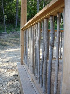 Natural Porch Rail. Possibly for my new porch?