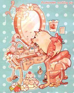 Pumpkin Bisuke; Fashionable pig