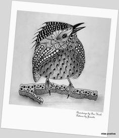 Miss Positiva: Templates van Ben Kwok Doodle Art, Zentangle Animals, Zentangle, Zentangle Art, Doodle Drawings, Sharpie Art, Bird Art, Zen Art, Interesting Art