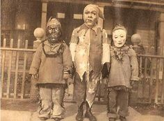 Love the creepy vintage costumes!