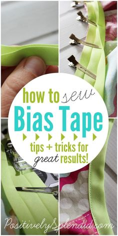 Foolproof tips for how to sew bias tape like a pro, even if you are a beginner! (I just bought some today, by chance, so maybe this'll help me do an even better job!)