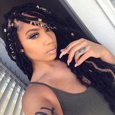 Follow Beauty @liamonet ・・・ | I decided to teach myself how to do my own goddess locs