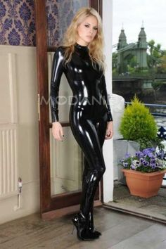 Manches longues latex costume sexy complet pas cher [#M1409016866] - modanie