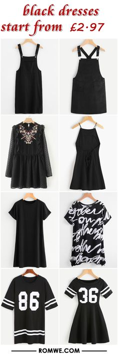 black dresses from £2.97 - romwe.com
