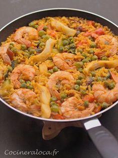 Riz à l'espagnole - Recetas Crockpot Recipes For Two, Crockpot Lunch, Best Dinner Recipes, Lunch Recipes, Cooking Recipes, Fish Recipes, Seafood Recipes, Pasta, Healthy Breakfast Potatoes