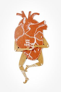 My Heart - Valentine's gift - Articulated Paper Dolls by Dubrovskaya. Kraft paper, hand painted, MADE TO ORDER. on Etsy, $12.00