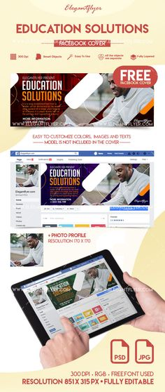 Business free facebook cover social media template template and education solutions free facebook cover cheaphphosting Images