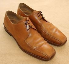 Men's MEZLAN Maranello Tan Leather Lace Up Oxfords, Made in Spain - Size 11.5 M