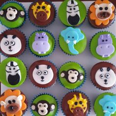 Cupcakes animals