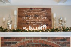 Christmas Sign - Isaiah 9:6 with Nativity Sign by DRSignsDesigns on Etsy