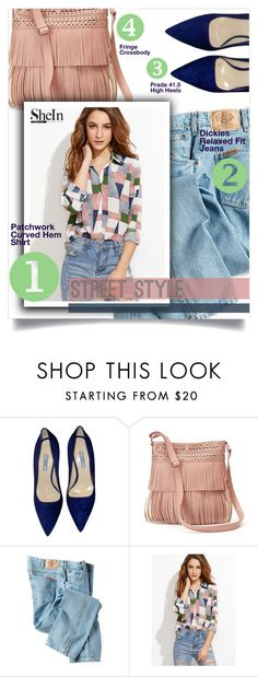 """""""Shein Top"""" by tawnee-tnt ❤ liked on Polyvore featuring Prada, Candie's and Dickies"""