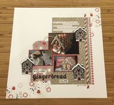 Ditjes en datjes Scrapbooking Layouts, Scrapbook Pages, Candy Cane, Gingerbread, Stampin Up, Upcycle, Christmas Cards, Frame, Holidays
