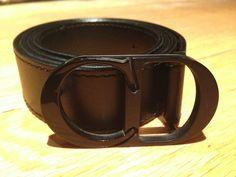Christian Dior Belt (Men's Pre-owned CD Homme Black Leather & Buckle Belt)