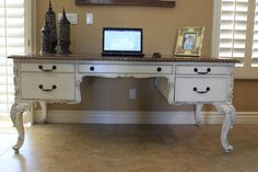 refinished desk - I've got to find me one of these.  I've had a long year of refinishing furniture but this would make me want to do another.  Beautiful!!
