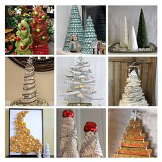 DIY recycled Christmas trees