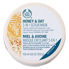 The Body Shop Honey & Oat 3 in 1 Scrub Mask is a three-in-one face mask that cleanses, polishes and moisturises normal to dry skin. The Body Shop, Skin Care Regimen, Skin Care Tips, Oats Face Mask, Body Shop Australia, Best Body Scrub, Exfoliating Scrub, Peeling, Facial Masks