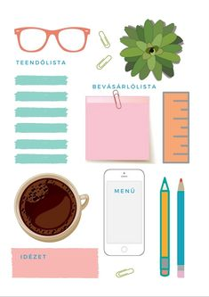Minden, Life Planner, Filofax, Clever, Scrapbooking, Menu, Bullet Journal, Printables, How To Plan