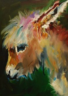 Burro Greeting Card featuring the painting Burro Donkey by Diane Whitehead